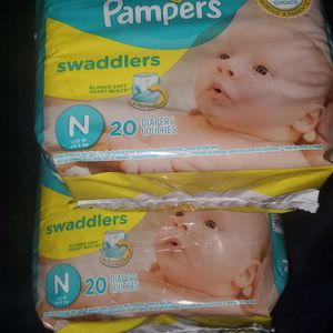 Pampers Newborn 3 packs of 20 for Sale in Fontana, CA