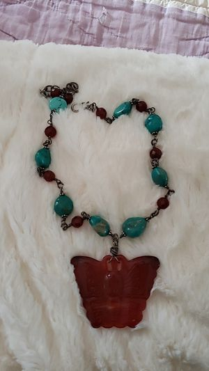 CHICOS FAUX TURQUOISE BUTTERFLY for Sale in Bowling Green, MO