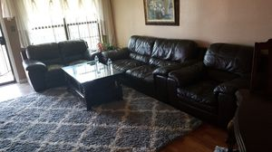 Brown leather sofa set for Sale in Tampa, FL