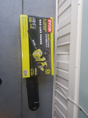 Ryobi 14 inches cordless chain saw brand new in box all incuded(chain saw ,battery 40v and charger) for Sale in Winter Springs, FL