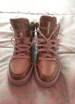 Adidas high top sneakers size 6 1/2 worn once still brand new for Sale in Philadelphia, PA