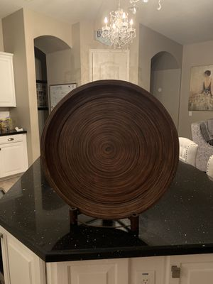 Round wood accessory with stand for Sale in Phoenix, AZ