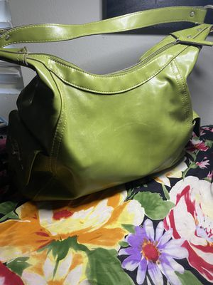 Chartreuse leather tote bag for Sale in Covina, CA