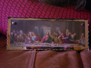 "Antique ""The Last Supper"" glass wall hanging (mirror trim) for Sale in Columbus, OH"