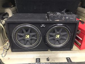 Must hear 2 12 kicker subs in box and pionee amp must hear for Sale in NY, US
