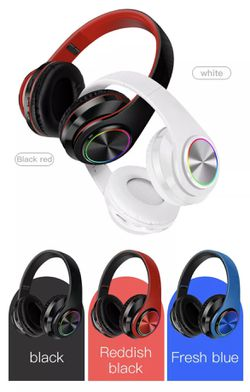Headphones multiple Color Led Bluetooth for Sale in Clovis, CA