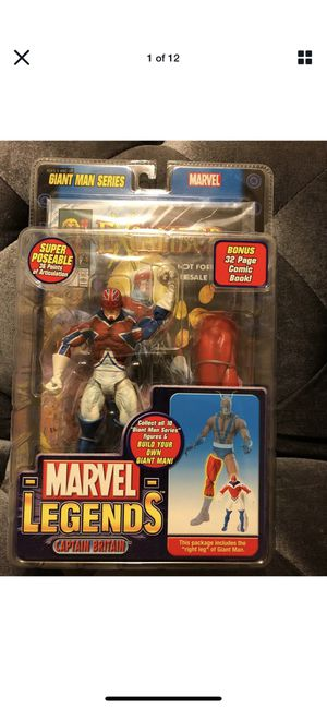 Marvel Legends Captain Britain with Giant Man BAF piece 2006 New for Sale in Fresno, CA