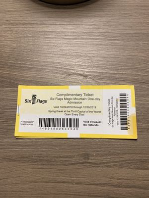 Six flag tickets for Sale in Fresno, CA