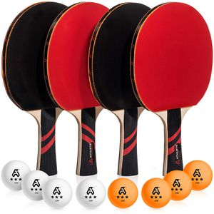 Brand new in box Ping Pong Paddle Set of 4 - Pro Wood Ping-Pong Paddles and 8 Light Regulation Table Tennis Balls - This 4-Player Racket and Ball Kit for Sale in Bellevue, WA
