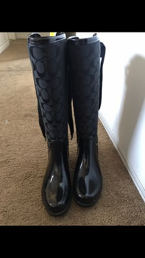 Coach rain boots; size six for Sale in Gardena, CA