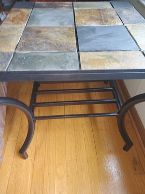 Gunmetal and slate end table for Sale in Worthington, OH