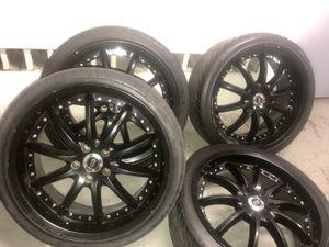 Racing Wheels & rims. Must go! 245/35z/r20 for Sale in NEWTON U F, MA