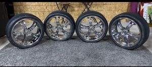 "20"" Chrome Rims & Tires in excellent conditions . for Sale in Arlington, VA"
