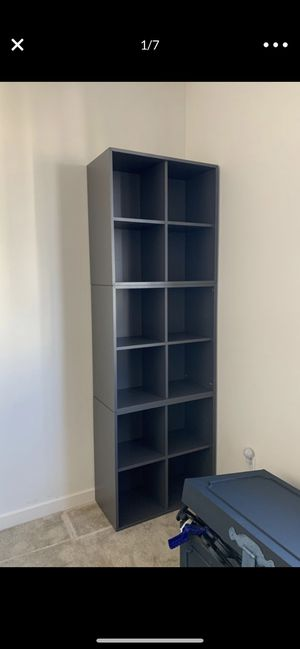 Grey square cubby shelving storage like ikea expedit/kallax for Sale in Irvine, CA