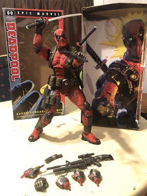 Deadpool super poseable 1/4 neca action figure! for Sale in Santa Clara, CA