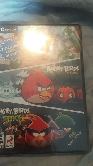 PC CD rom angry birds 3 games on one disk new for Sale in Grove City, OH