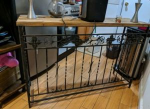 Iron wrought and wood console table for Sale in New York, NY