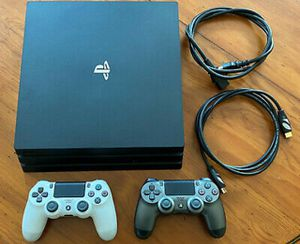"""Sony PlayStation 4 Pro """"PS4 Pro"""", 1TB HDD, black, with stand and two controllers for Sale in Denver, CO"""
