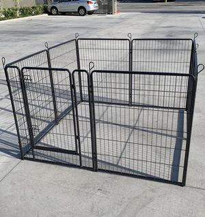 Brand new 40 inch tall x 32 inches wide each panel x 8 panels heavy duty exercise playpen with sun shade tarp cover fence safety gate dog cage crate for Sale in San Dimas, CA