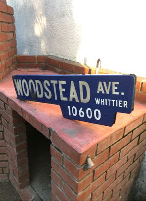 Double sided, retired porcelain street sign for Sale in Whittier, CA