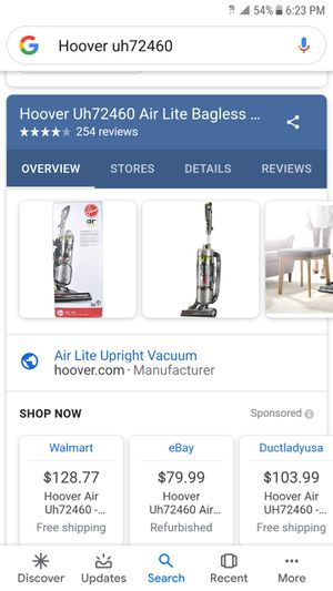 Hoover Air Lite upright vacuum for Sale in Long Beach, CA