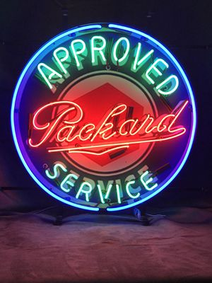 "Approved Packard Service Neon Sign - New - Handmade - 24"" X 24"" for Sale, used for sale  Bonner Springs, KS"