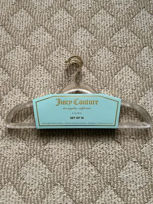 120 Juicy Couture gold glitter hangers adult clothes clothing hangers for Sale in Pasadena, CA