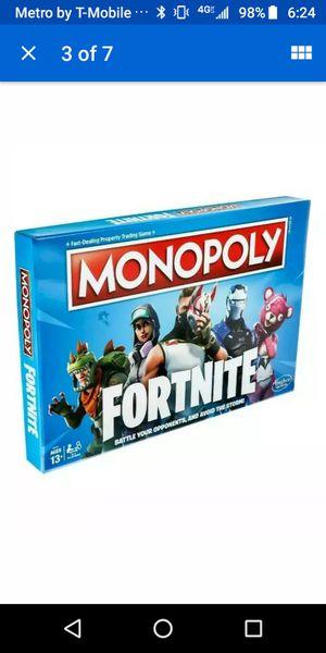 Monopoly: Fortnite Edition Board Game. New in box. Limited Hasbro Edition NIB for Sale in North Palm Beach, FL