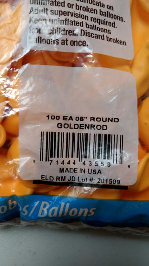 "Qualatex 5"" Round Balloons, Goldenrod - Pack of 100 NIP for Sale for sale  Stockton, CA"
