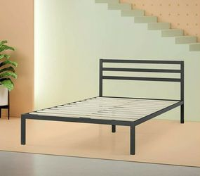 Queen Size Metal Bed Frame With Headboard 14inch for Sale in St. Peters,  MO