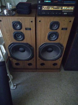 Technics stereo system with 2 15 inch subs and 2 10 inch subs for Sale in Tulare, CA