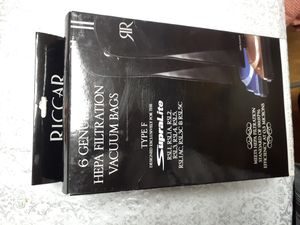 8ea. RICCAR HEPA Filtration Vacuum Bags Type F for Sale in Kent, WA