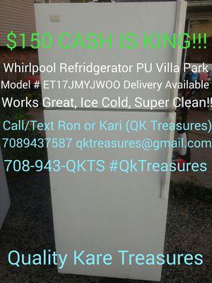 Whirlpool Fridge Refridgerator Works Great Clean Free Deliver Avl ET17JMYJWOO -�$150�(Villa Park,Northwest Burbs,Elmhurst,Lombard,Elk Grove,Addiso) for Sale in Villa Park, IL