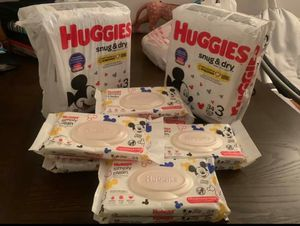HUGGIES WIPES & DIAPERS BUNDLE for Sale in Cleveland, OH