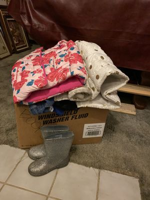 Girls clothes size 7 *** rain boots picked up already ** for Sale in Stockton, CA