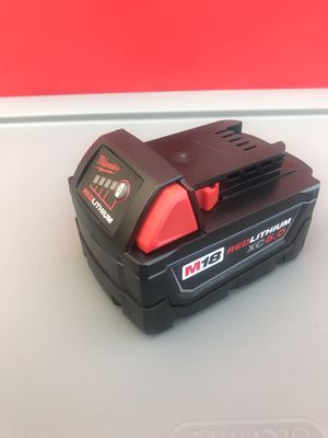Milwaukee battery 18VOLT 5.0ah lithium for Sale in Redlands, CA