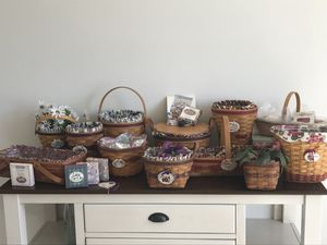 Longaberger Baskets Grandma Bonnie's entire 14 basket May series collection for Sale in Mansfield, NJ
