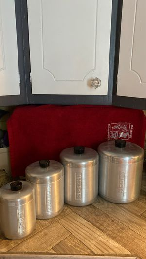 Vintage brushed canisters for Sale in Lockport, IL