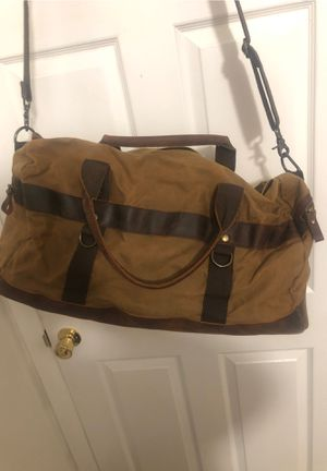 Rustic Duffle Bag with leather for Sale in Torrance, CA