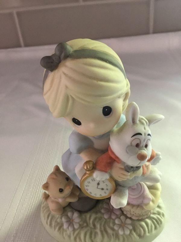 Precious Moments Alice In Wonderland and White Rabbit