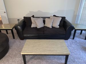 Living room set couch, swivel chair, coffee table, and two end tables. for Sale in Duluth, GA