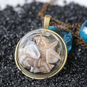 "Ocean Beach Glass Conch Starfish Shells Pendant 24"" Necklace *See My Other Items* for Sale in Palm Beach Gardens, FL"