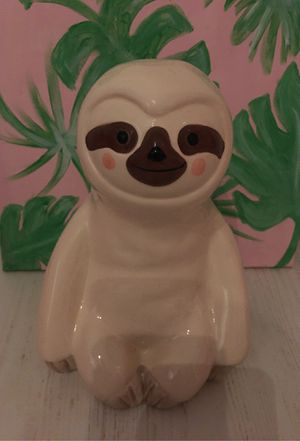 Adorable Ceramic Sloth Piggy Bank for Sale in Henderson, NV