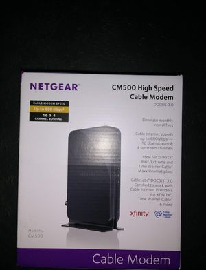 Netgear CM500 Cable Modem*New Condition for Sale in Palmdale, CA