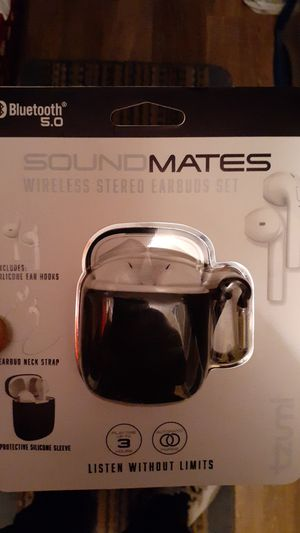 Sound mates Bluetooth 5.0 wireless stereo earbuds set for Sale in Dickinson, TX