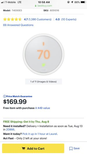 Nest thermostat for Sale in Washington, DC