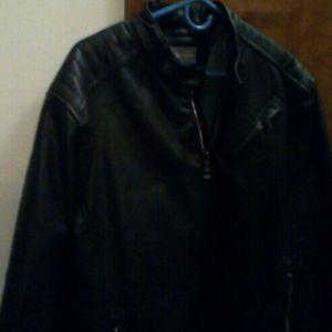 Great Christmas Present Like New Michael kors Men's XXL Leather Jacket for Sale in Wichita, KS