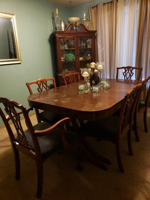 Antique China cabinet and table with 6 chairs for Sale in Vancouver, WA