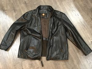 Marc New York Men's Brown Leather Coat, size XL for Sale in Rockville, MD