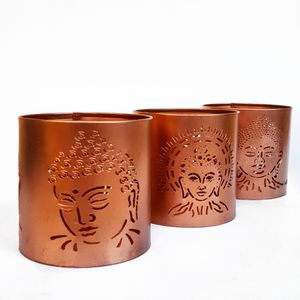 NEW! (3) Buddha Metal Candle Holders Boho Bohemian Home Decor for Sale in Tujunga, CA